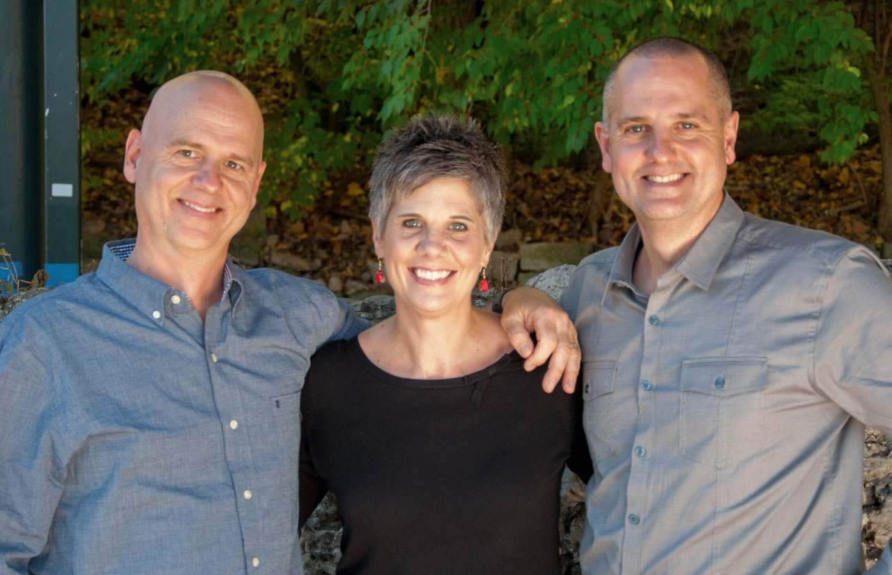 Brian, Carisa, and Kevin Holmes