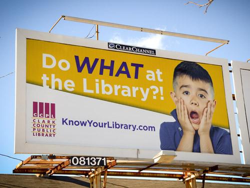 Clark County Public Library Billboard Creative
