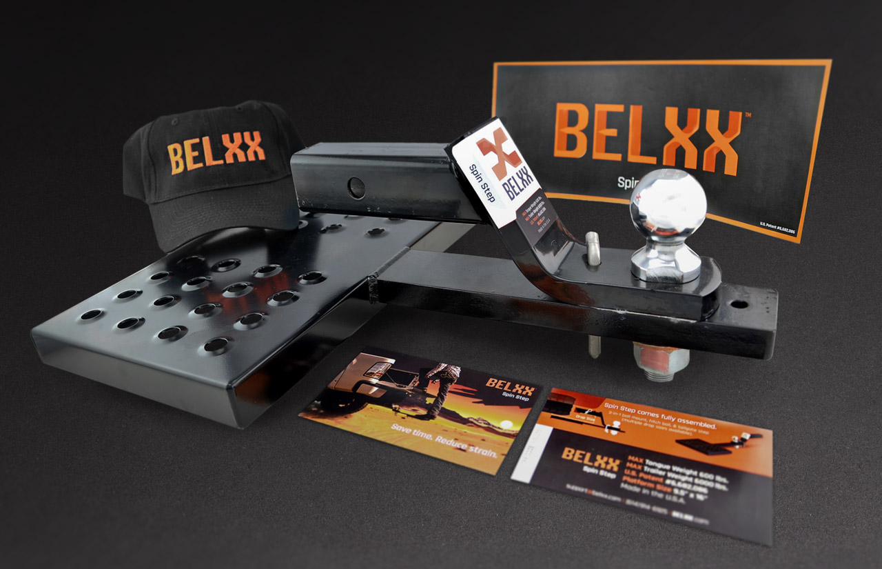Belxx Promo Items, Direct Mail, and Product Labels.