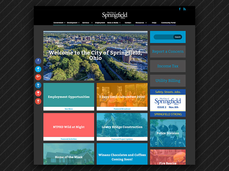 Springfield, Ohio Website Home Page