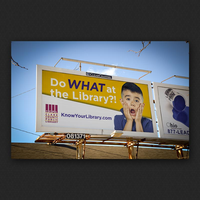 Billboard Promoting the Clark County Public Library