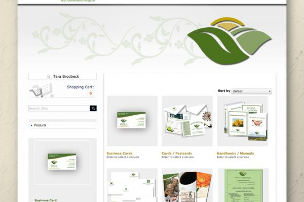 Hospice of the Miami Valley Online Ordering Website Home Page