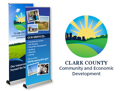 Clark County Community and Economic Development Logo Redesign and Retractable Display Banners