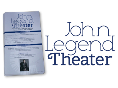 John Legend Theater Logo and Printed Material Design