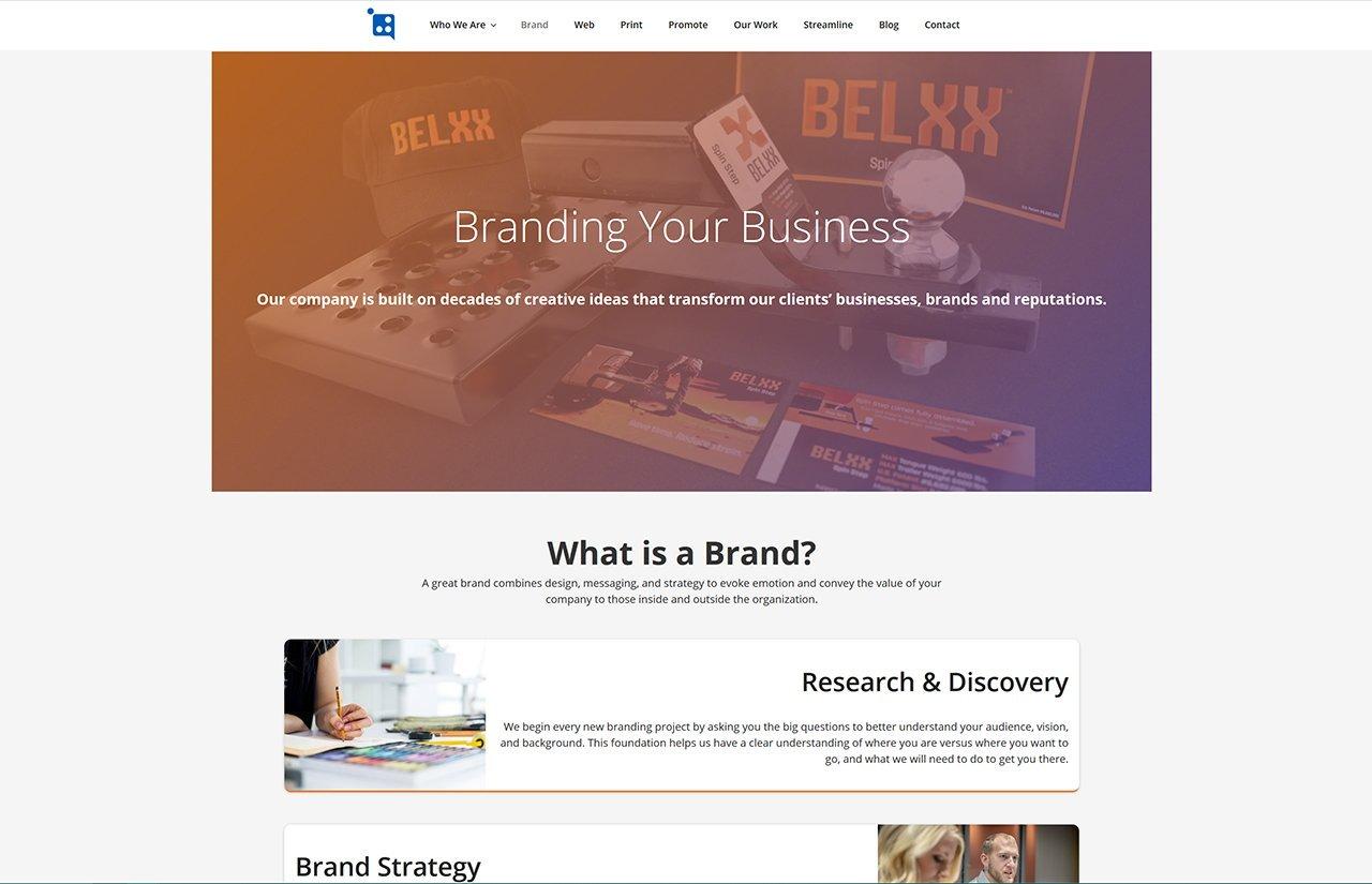 Screenshot of Holmes Marketing Website page update