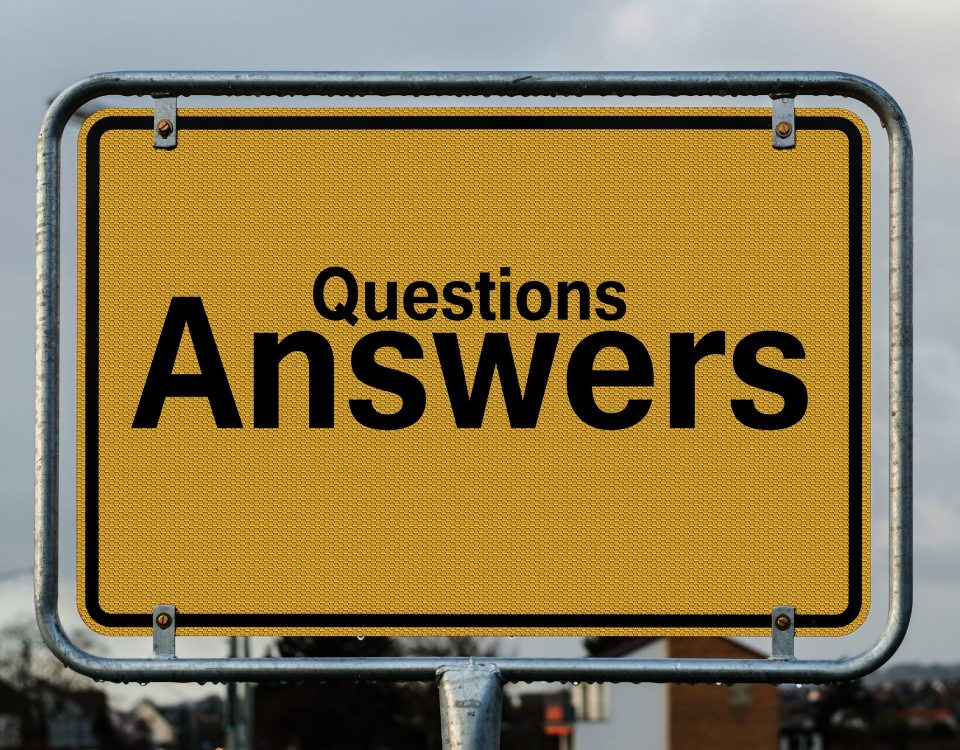 Billboard with Questions and Answers
