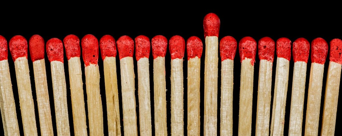 matches in a line with one individual